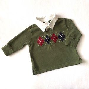 Boys Gymboree Polo Holiday Argyle Shirt 6-12 Month